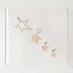Naomi Eloise: 14k Gold Diamond Star Charms