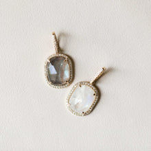 Load image into Gallery viewer, Naomi Eloise: 14k Gold Diamond Gemstone Pendants