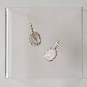 Naomi Eloise: 14k Gold Diamond Gemstone Pendants