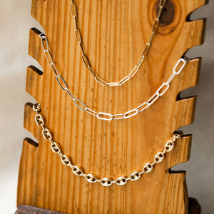 Naomi Eloise:  14k Gold Paperclip Chain Necklace