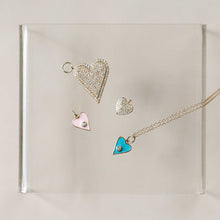 Load image into Gallery viewer, Naomi Eloise: 14k Gold Diamond Heart Charms