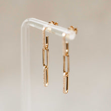 Load image into Gallery viewer, Naomi Eloise:  Diamond Link Earring