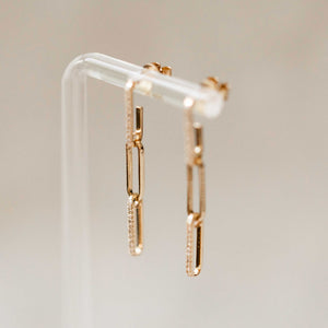Naomi Eloise:  Diamond Link Earring