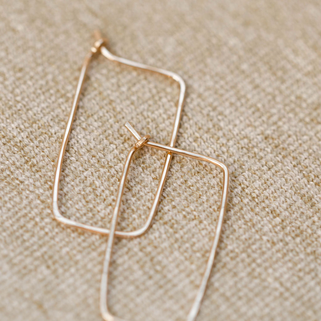 Everyday Rectangle Hoop Earring