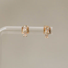 Load image into Gallery viewer, Naomi Eloise:  Rainbow Moonstone and Diamond Bar Earring