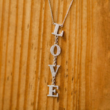 "Load image into Gallery viewer, Naomi Eloise: Diamond  ""L*O*V*E"" Necklace"