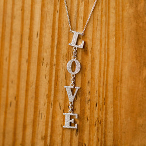 "Naomi Eloise: Diamond  ""L*O*V*E"" Necklace"