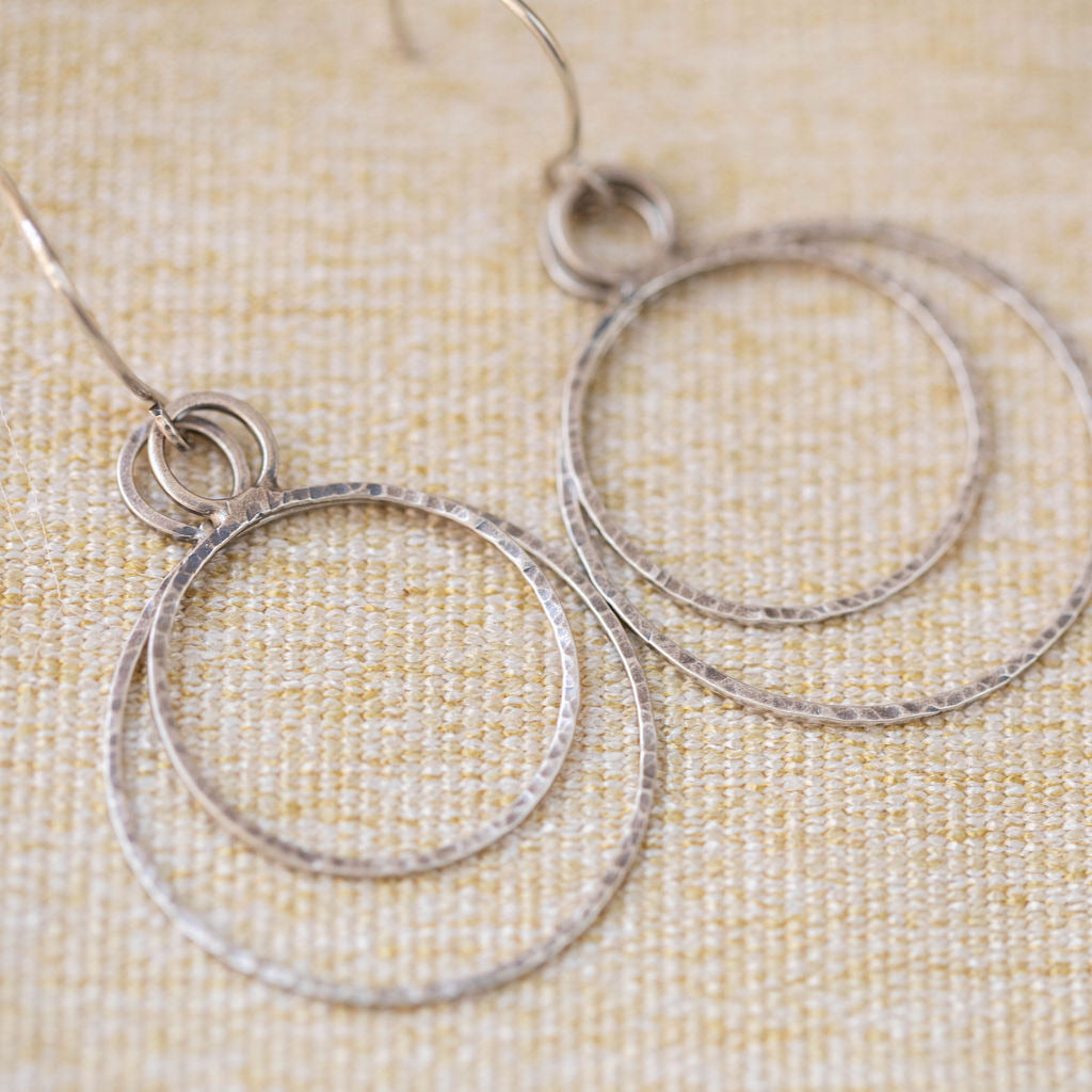 Modern- Floating Circles Earring