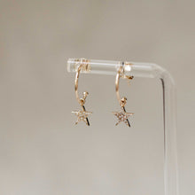 Load image into Gallery viewer, Naomi Eloise: Diamond Star Hoop Earring