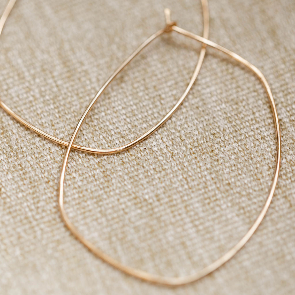 Everyday Oblong Hoop Earring