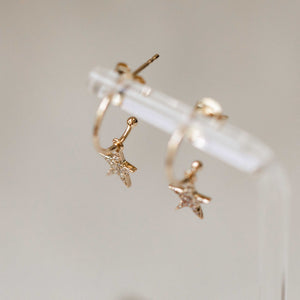 Naomi Eloise: Diamond Star Hoop Earring