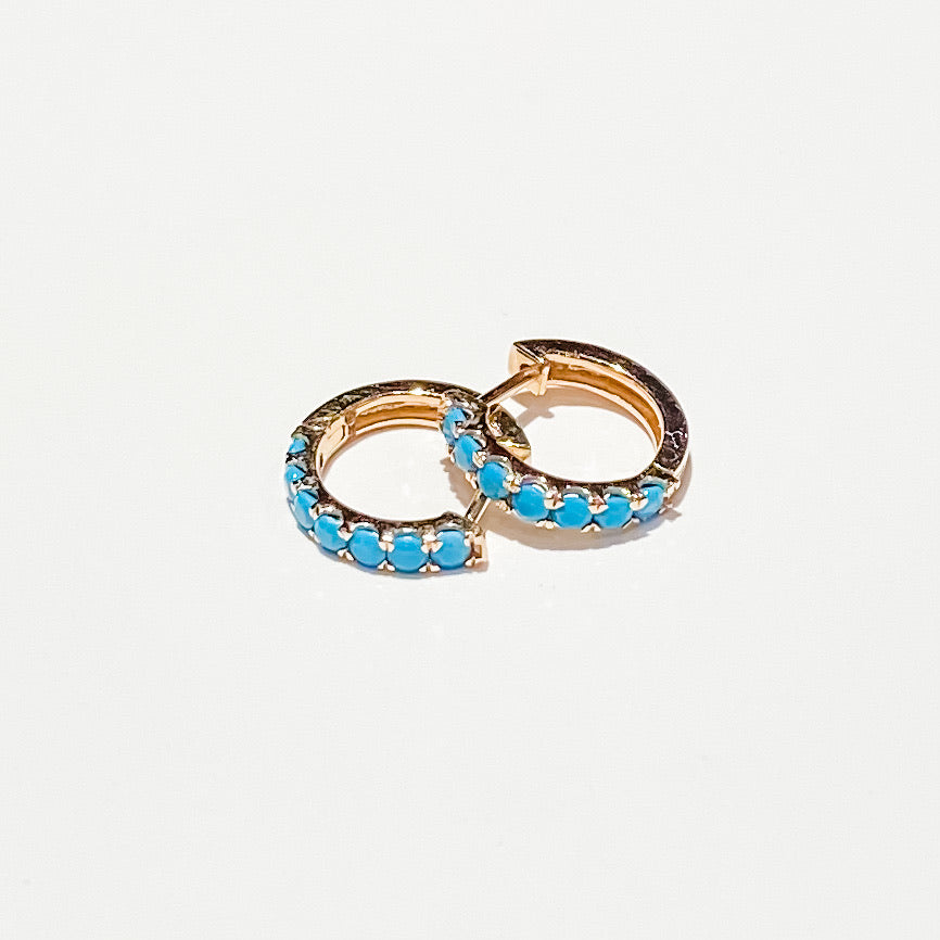 Naomi Eloise: Turquoise Huggie Earrings