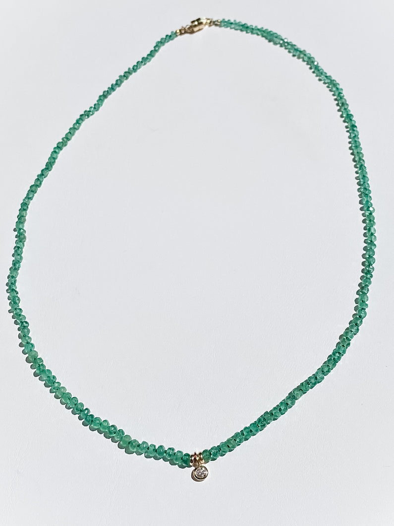 One-of-a-Kind: Custom Emerald Confetti Necklace