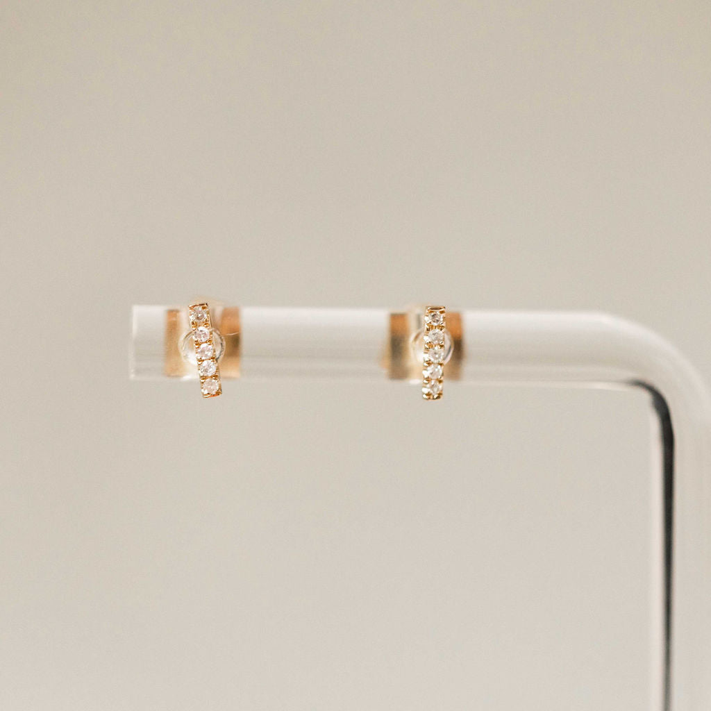 Naomi Eloise:  Diamond Bar Earring