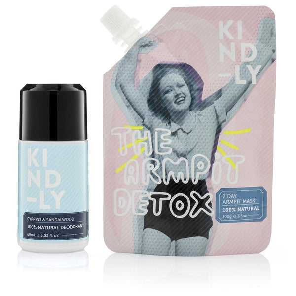 KIND-LY 100% Natural Deodorant Cypress & Sandalwood & The Armpit Detox