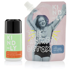 KIND-LY 100% Natural Deodorant Lime & Frankincense & The Armpit Detox