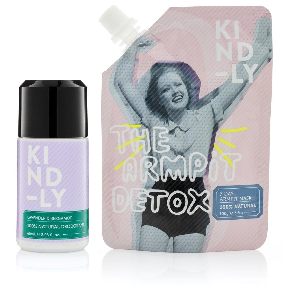 KIND-LY 100% Natural Deodorant Lavender & Bergamot & The Armpit Detox