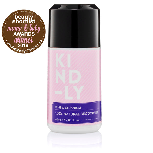 KIND-LY Rose & Geranium 100% Natural Deodorant