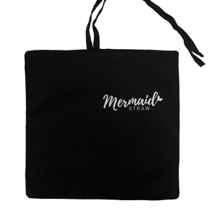 Black Travel Wrap - Mermaid Straw