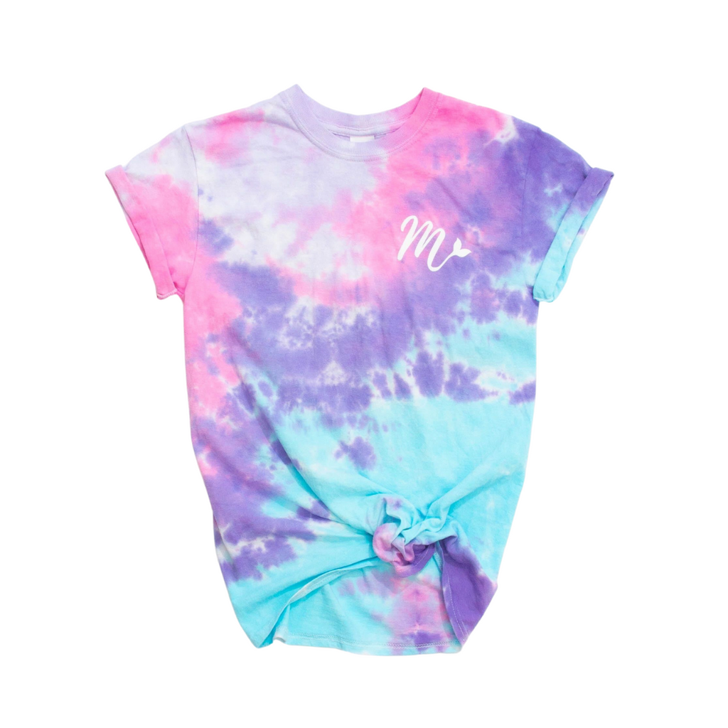 Tie Dye Tee - Mermaid Straw
