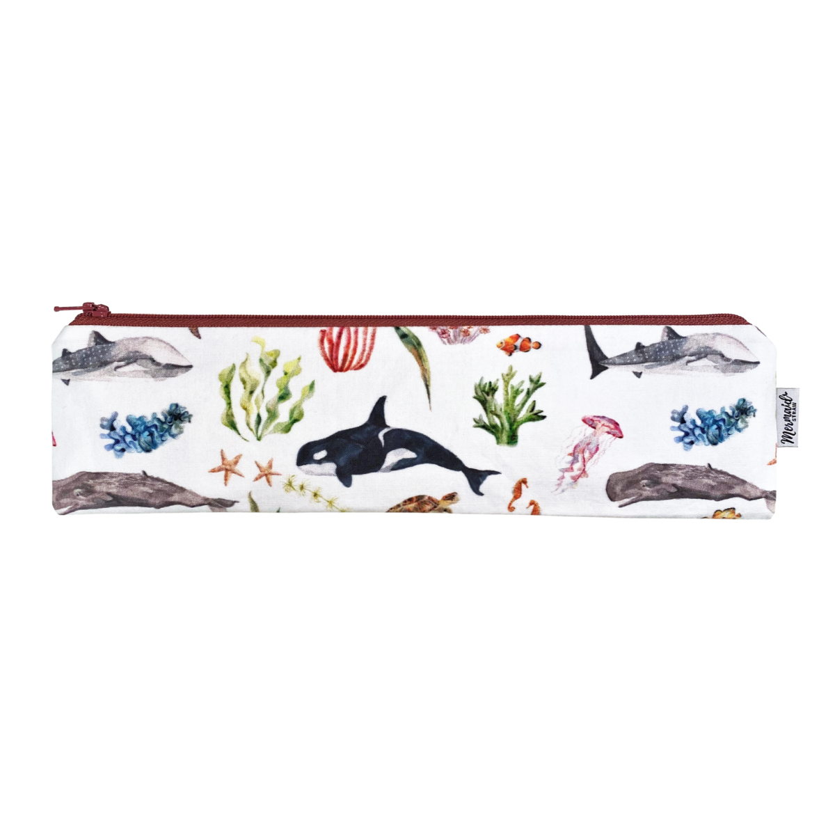 Under the Sea Zipper Pouch - Mermaid Straw