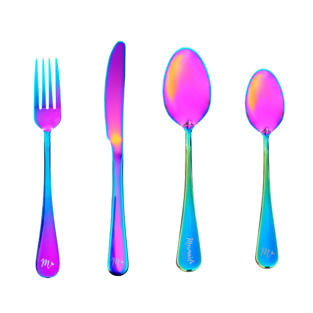 Mermaid Flatware Pack (4 piece) - Mermaid Straw