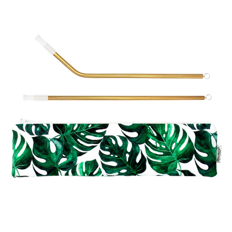 Monstera Leaf Pack - Mermaid Straw
