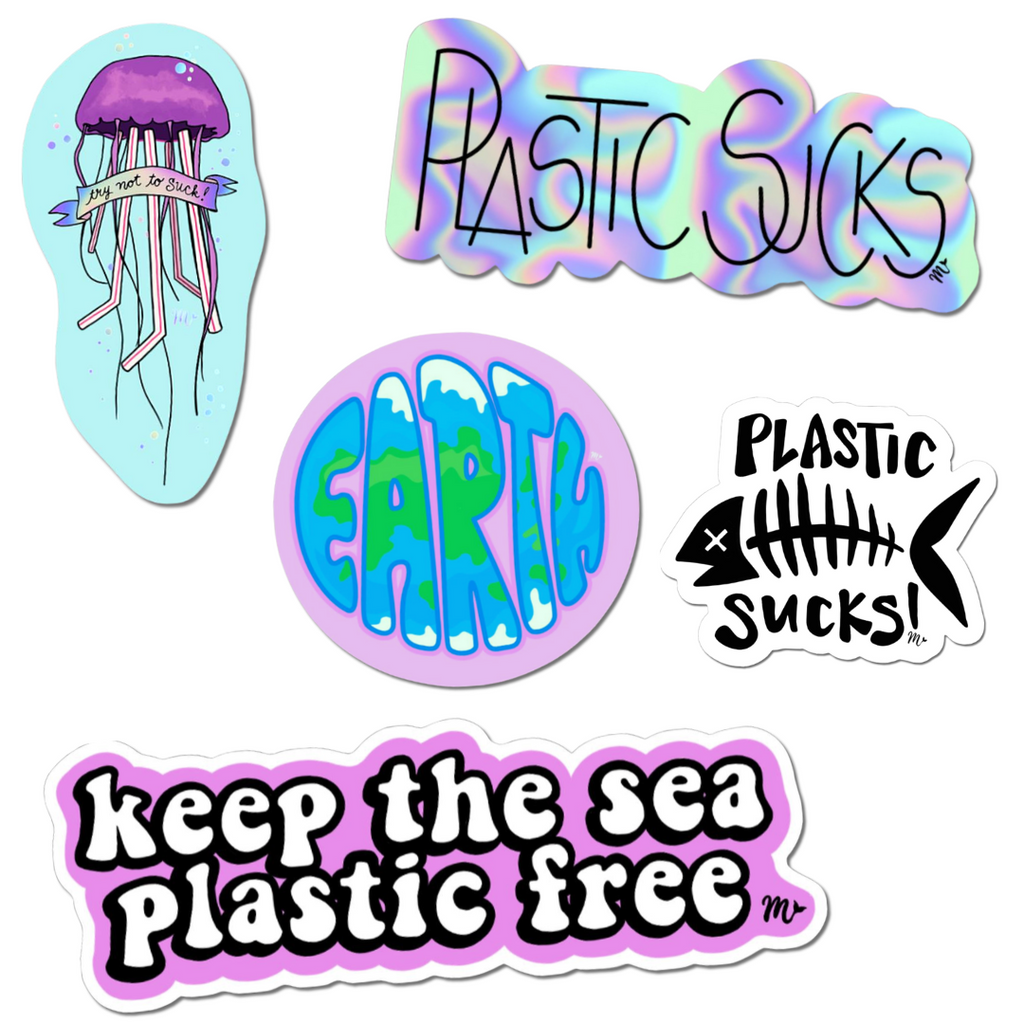 Sticker Pack - Mermaid Straw