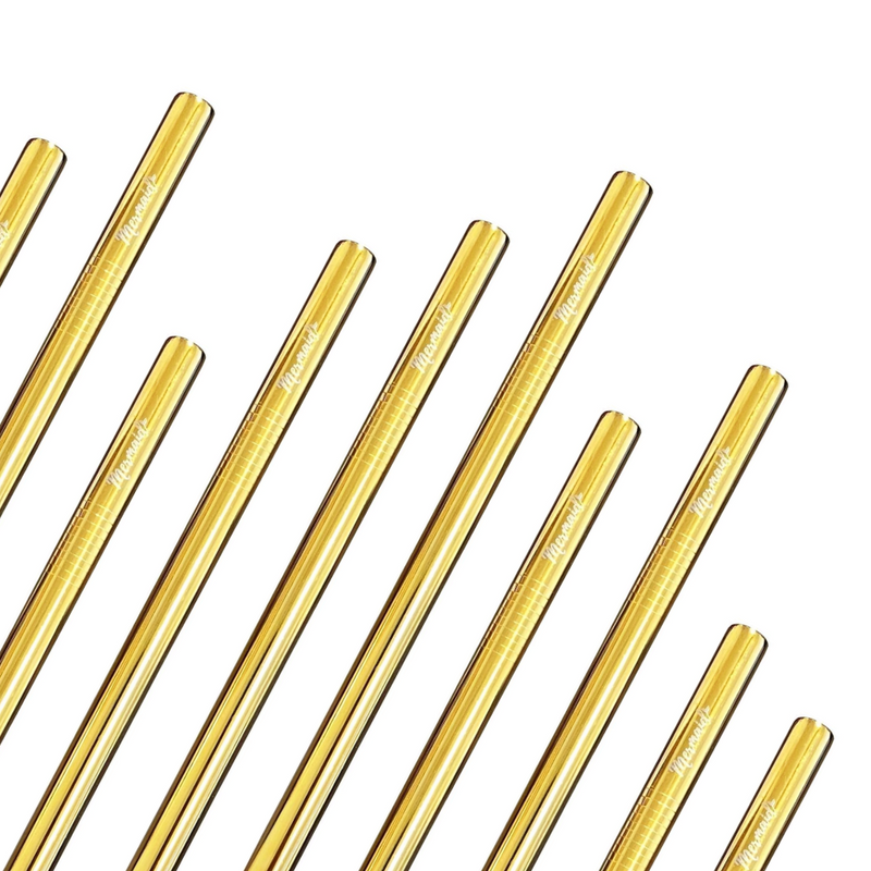 Gold Smoothie Straws