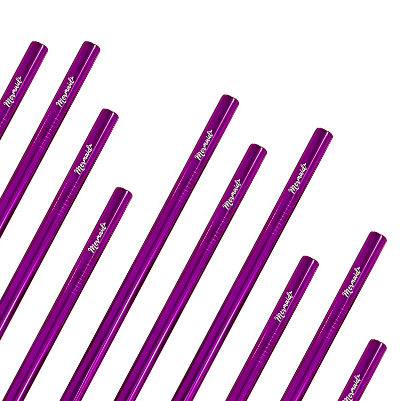 Purple Smoothie Straws