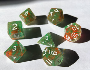 Toxic Forest Polyhedral RPG Dice Set