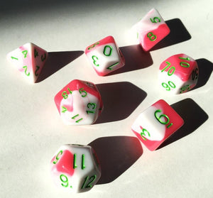 Berry Swirl Polyhedral RPG Dice Set