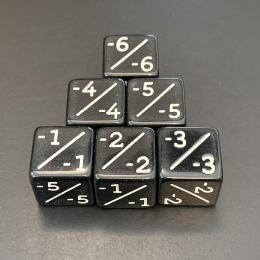 D6 Counter Dice Negative