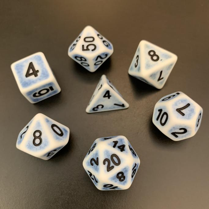 Cerulean Ancient Polyhedral RPG Dice Set