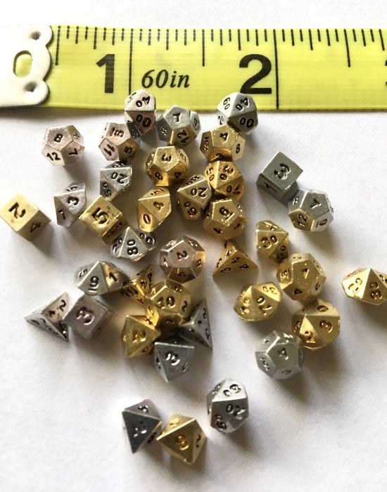 Assorted 5mm Metal Micro Dice (original Chessex)