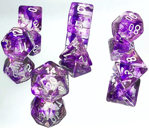 Purple Nebula Dice Set
