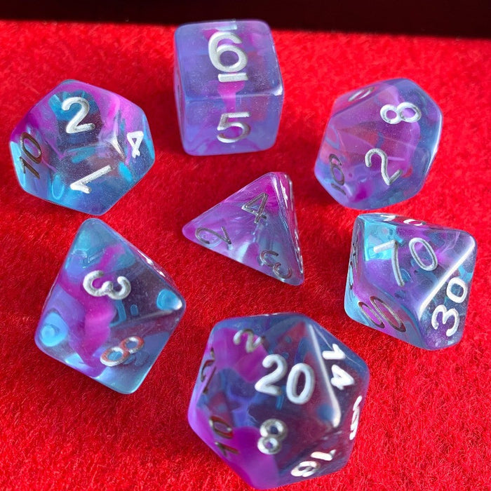 Aquarius Nebula Polyhedral RPG Dice Set