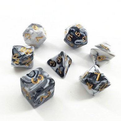 Black and White Dice Set