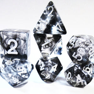 Black Nebula Polyhedral Dice Set