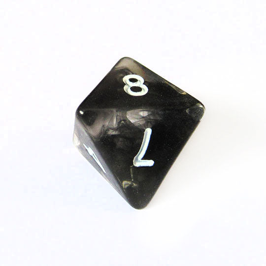 Black Nebula Swirl Dice Bulk Pieces