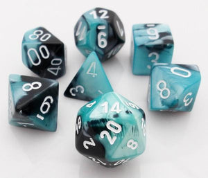Gemini Black-Shell Polyhedral RPG Dice Set