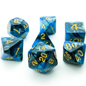 Cobalt Veins Polyhedral RPG Dice Set