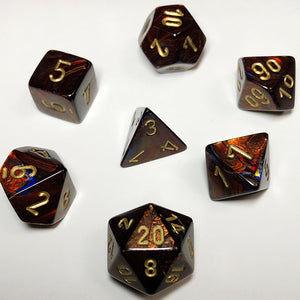 Scarab Blue Blood Polyhedral RPG Dice Set