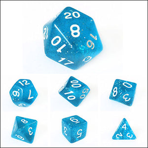 Blue Translucent Sparkle Dice Bulk Pieces