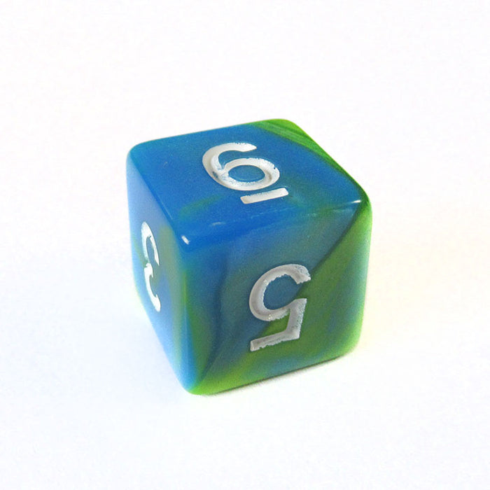 Blue and Green Blend Dice Bulk Pieces