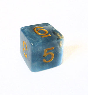 Storm Cloud Blue Jade Dice Bulk Pieces
