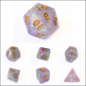 Blue and Purple Cloud Swirl Dice Bulk Pieces