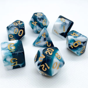 Blue Dragon Polyhedral RPG Dice Set