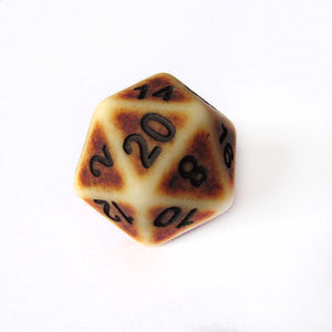 Brown Ancient Bone Dice Bulk Pieces
