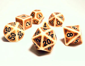 Ancient Bone Dice Set